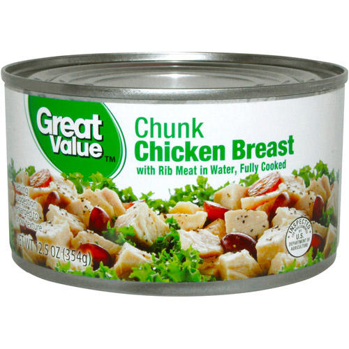 Great Value: Premium Fully Cooked Chunk Chicken, 12.5 Oz