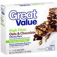 Great Value Fiber Bars Oats & Chocolate