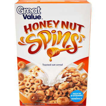 Great Value: Honey Nut Spins Cereal, 17 Oz