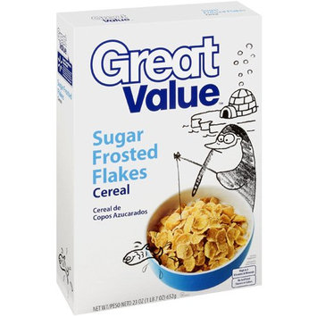 Great Value: Sugar Frosted Flakes Cereal, 23 Oz