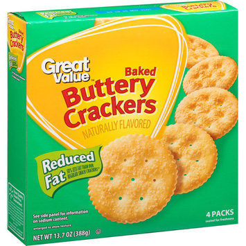 Great Value Reduced Fat Buttery Rounds Baked Crackers, 13.7 oz
