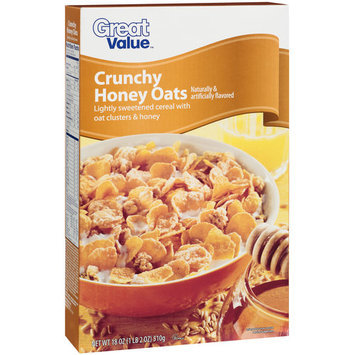 Great Value Crunchy Honey Oats Cereal, 18 oz
