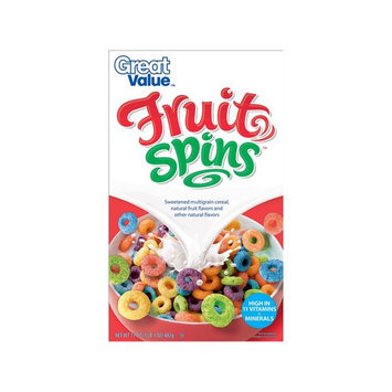 Great Value Fruit Spins Cereal, 17 oz