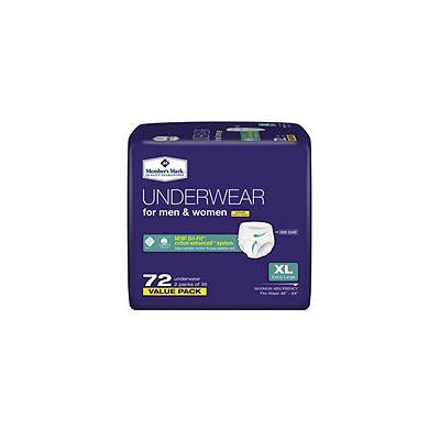 Member's Mark Protective Underwear For Men & Women, X-Large (72 ct.)