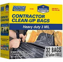 Member's Mark Commercial Contractor Clean-Up Bags (42 gal, 32 ct.)