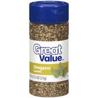 Great Value Oregano Leaves, .75 oz