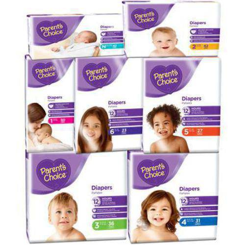 Parents Choice Parent's Choice Diapers (Choose your Size)