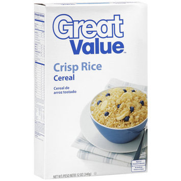Great Value Crisp Rice Cereal, 12 oz