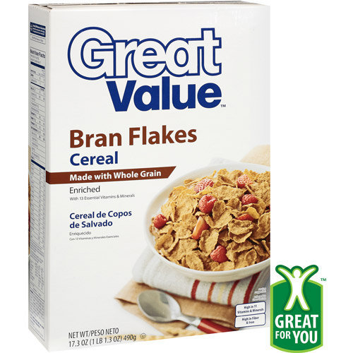 Great Value: Bran Flakes Cereal, 17.3 Oz Reviews 2019