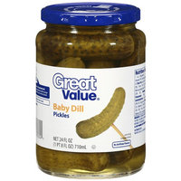 Great Value: Baby Dill Pickles, 24 Oz