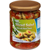 Great Value Sliced Salad Olives with Minced Pimento, 10 oz
