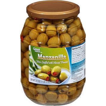 Great Value Minced Pimento Stuffed Manzanilla Olives, 21 oz