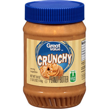 Great Value: Crunchy Peanut Butter, 18 Oz