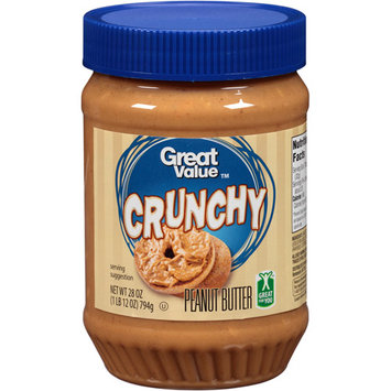 Great Value Peanut Butter Crunchy, 28 oz