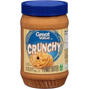 Great Value Peanut Butter Crunchy, 40 oz