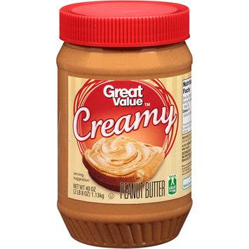 Great Value Peanut Butter Creamy, 40 oz