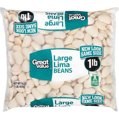 Great Value: Large Lima Beans, 16 Oz