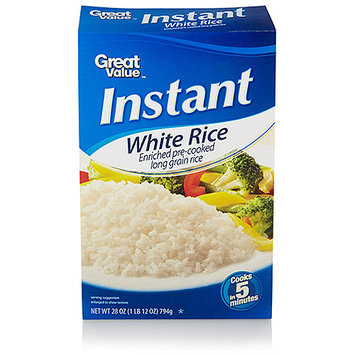 Great Value: Instant White Rice, 28 oz