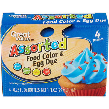 Great Value Assorted Food Color & Egg Dye, 1 oz