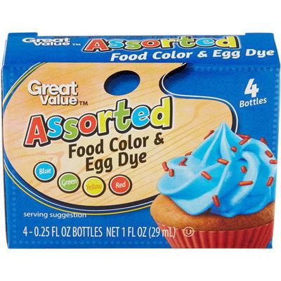 Great Value Assorted Food Color & Egg Dye, 1 oz