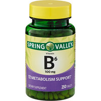 Spring Valley Vitamin B-6 100mg, 250ct