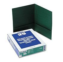 Esselte Pendaflex Corporation ESS53434 Linen Twin Pocket Portfolio- Dark Green