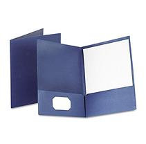 Esselte Pendaflex 53443 Twin-Pocket Linen Paper Portfolio Navy