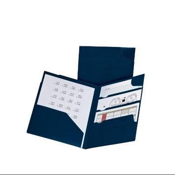 Oxford Divide-It-Up 4-Pocket Poly Folder Navy