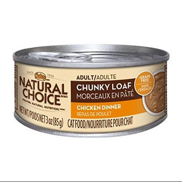 Nutro Natural Choice Adult Chunky Loaf Chicken Dinner Canned Cat Food