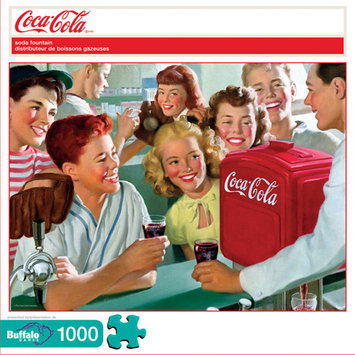 Buffalo Games Coca-Cola Soda Fountain Puzzle: 1000 Pcs