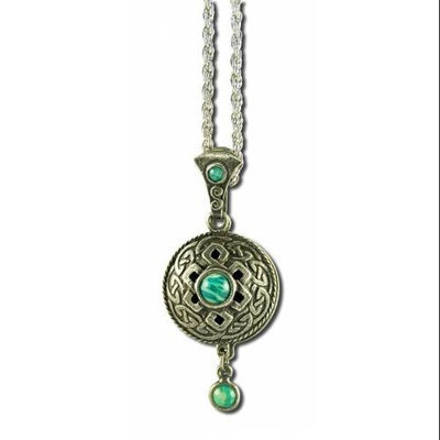 tures Alchemy Nature's Alchemy: Celtic Green Amazonite Antiquity Diffuser Pendant Necklace