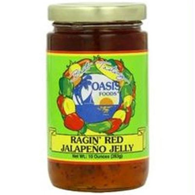 Oasis Foods B58470 Oasis Jalapeno Ragin Red Jelly -6x10oz