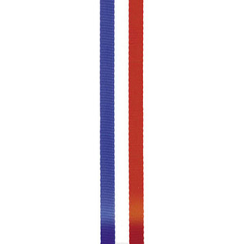 Offray 294351 Tri-Stripe Ribbon .63 in. 3 Yards-Red White & Blue