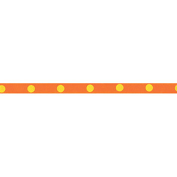 Offray 284398 Dippy Dots Ribbon 3-8 in. Wide 9 Feet-Brown-Blue