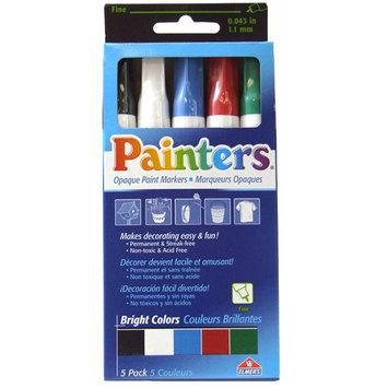 Elmers Elmer's Painters Paint Markers, Fine Tip, Bright Colors, 5pk