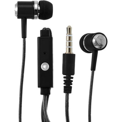 Sentry Blue HPS-HM372 MicBuds Metal Stereo Ear Buds With Built-In Mic