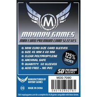 Mayday Games Mini Euro Card Sleeve, Dark Blue