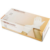 Medline MediGuard Powdered Latex Exam Gloves, Large, 100/Box