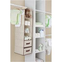 Delta 4-Shelf Closet Storage with Drawers - Beige