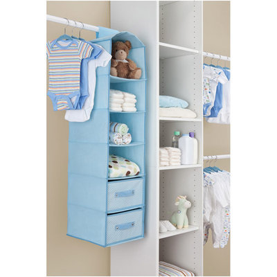 Delta 4-Shelf Closet Storage with Drawers - Blue
