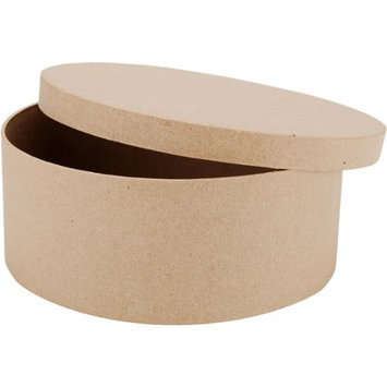 Dcc Crafts Paper Mache Round Box-7-1/2