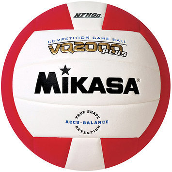 Mikasa VQ2000 Micro-Cell Indoor Volleyball, Scarlet/White