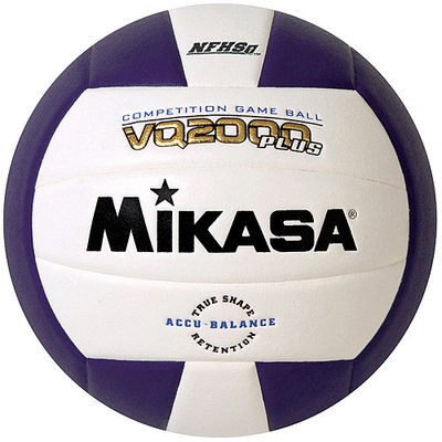 Mikasa VQ2000 Micro-Cell Indoor Volleyball, Purple/White