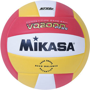 Mikasa VQ2000 Micro-Cell Indoor Volleyball, Scarlet/Gold/White