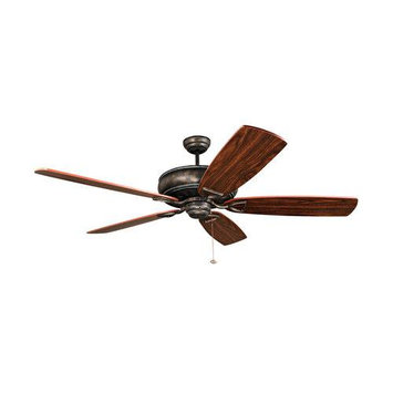 Craftmade International SUA62AVG5 Supreme Air 62 in. Ceiling Fan Antique VerdeGold