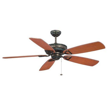 Craftmade International SUA56AVG5 Supreme Air 56 in. Ceiling Fan Antique VerdeGold