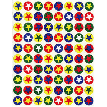 Hygloss NOTM343320 - Stars In Circles Sticker Forms