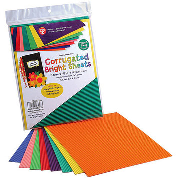 Hygloss NOTM343927 - Corrugated Crafting Paper