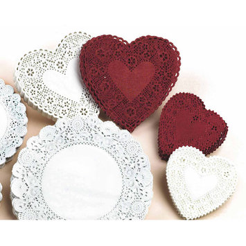 Hygloss Products Inc HYGLOSS PRODUCTS HYG91044 DOILIES 4 RED HEART-100/PKG.