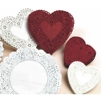 Hygloss Products Inc HYGLOSS PRODUCTS HYG91064 DOILIES 6 RED HEARTS-100/PKG.